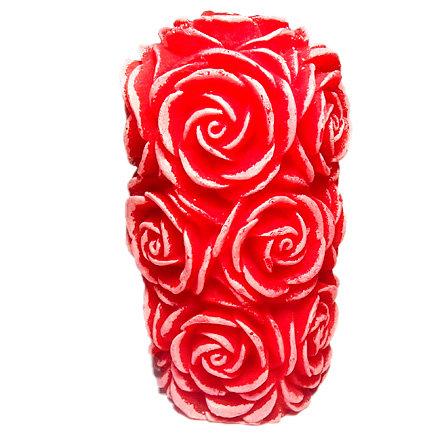 Цилиндр из роз 3D силиконовая форма для мыла оптом | optom.hobbyoutlet.ru